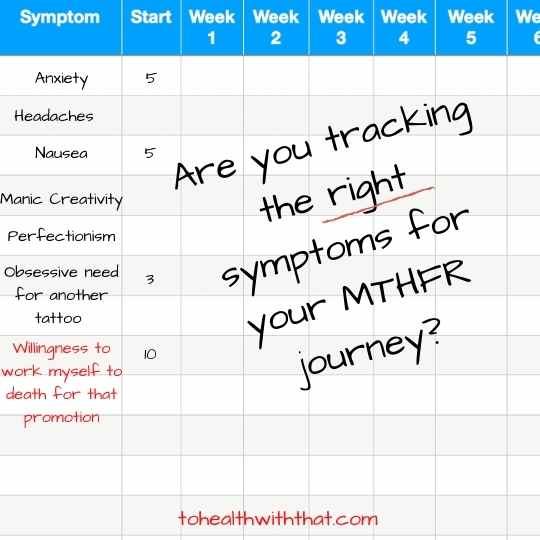 Are you tracking the right symptoms on your MTHFR journey?