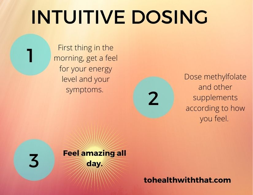 intuitive dosing - it's how to dose methylfolate