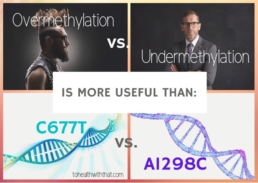 overmethylation vs undermethylation is more useful than C677T vs. A1298C