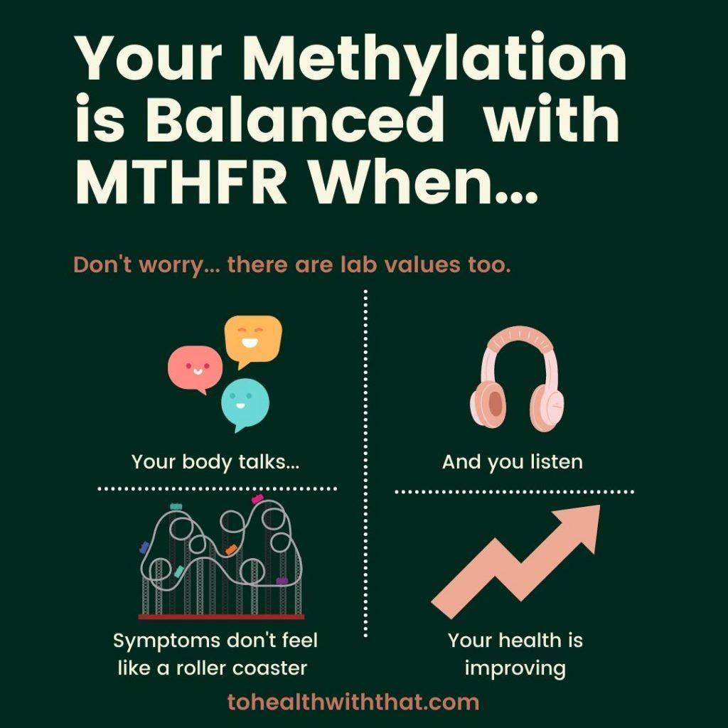 Balanced methylation with MTHFR