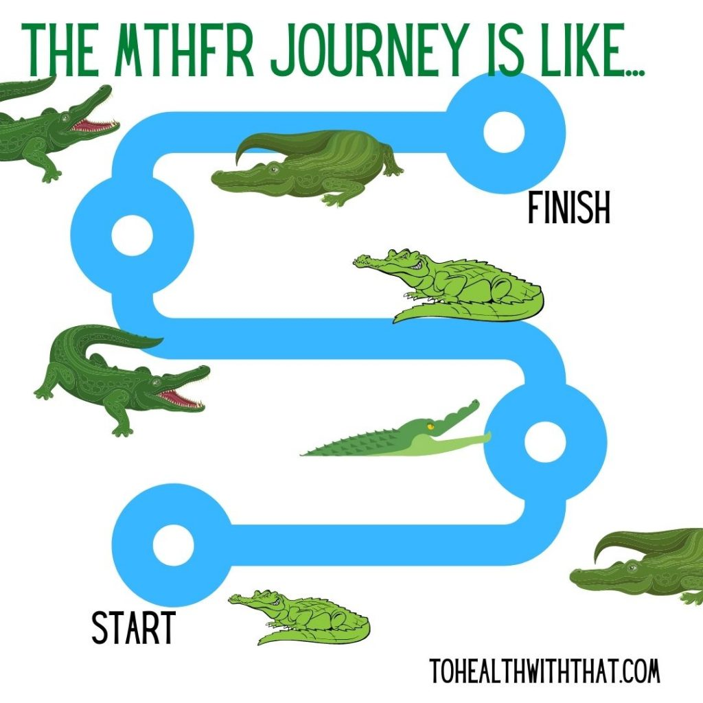 Have patience with MTHFR - the path is long and doing the wrong thing leads to symptoms.